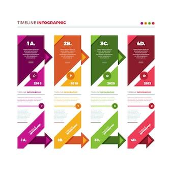 Плоский дизайн график инфографики