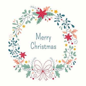 Ручной обращается иллюстрации рождественский венок