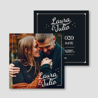 Свадебные приглашения с фото шаблоном
