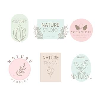 最小限のスタイルで設定された自然なビジネスロゴ