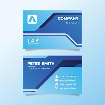 Визитная карточка абстрактный пакет