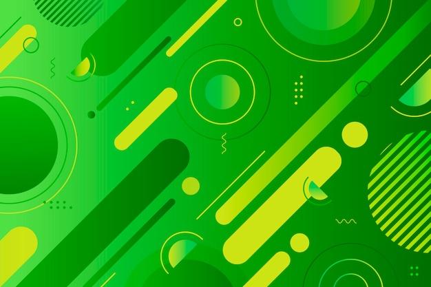 Геометрический абстрактный зеленый фон