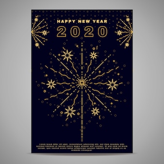 Новый год шаблон плаката в стиле структуры