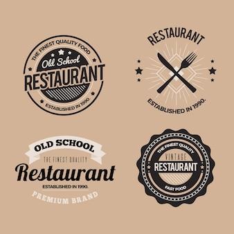 Ресторан ретро логотип коллекции