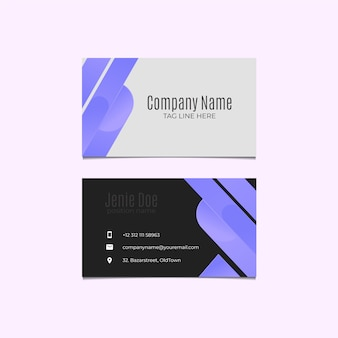 Набор абстрактных визитных карточек