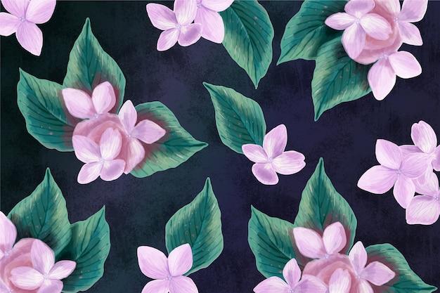リアルな手描きの花の背景