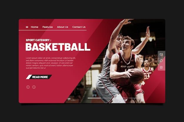 Шаблон спортивной целевой страницы с фото