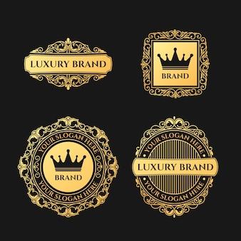 Коллекция логотипов в стиле ретро люкс