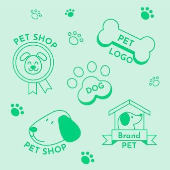 Минимальный набор элементов логотипа в двух цветах