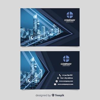 写真付きのビジネス企業カードテンプレート
