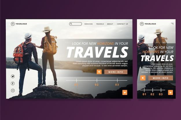 Шаблон целевой страницы путешествия