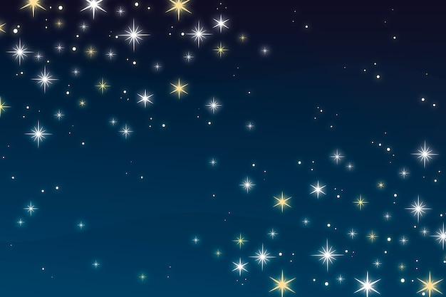 平らな明るい星の背景