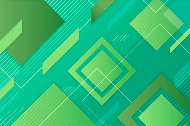 緑の抽象的な幾何学的な背景