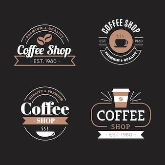 Кафе ретро логотип коллекции