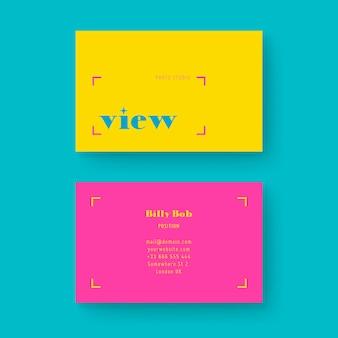 Шаблон минимальной красочной визитной карточки