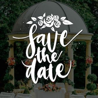 結婚式は写真で日付を保存します