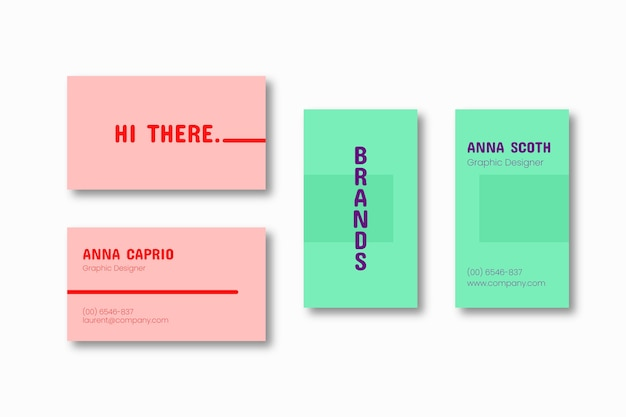 Красочный минимальный шаблон визитной карточки