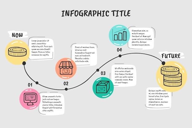 Ручной обращается график инфографики