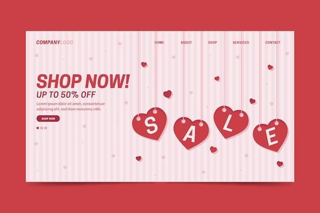 Шаблон целевой страницы продажи дня святого валентина