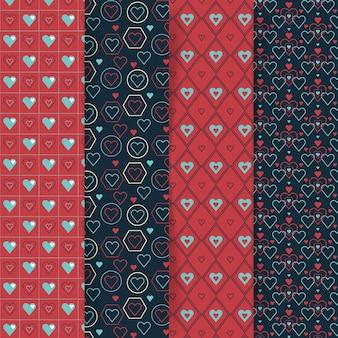 Валентина шаблон коллекции в плоском дизайне