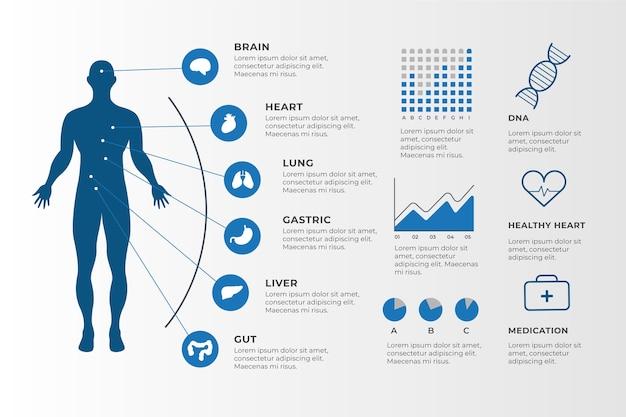 Медицинская инфографика элементы коллекции