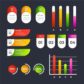 Красочный градиент инфографики элементы