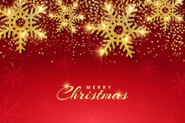 キラキラ効果とクリスマスの背景