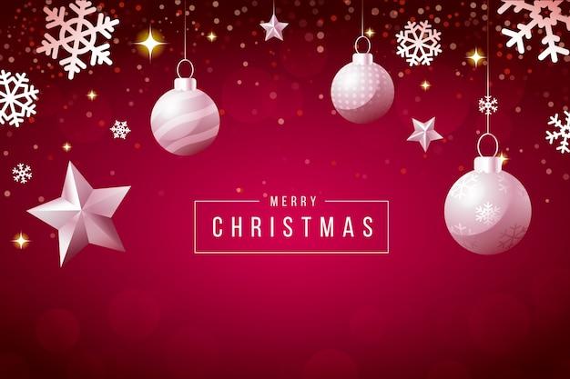 キラキラ効果クリスマス背景
