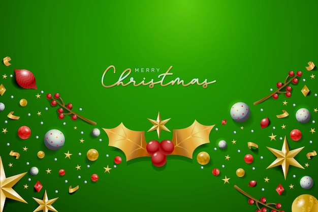 現実的な装飾クリスマスの背景