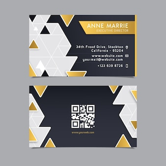 Шаблон визитной карточки геометрический дизайн