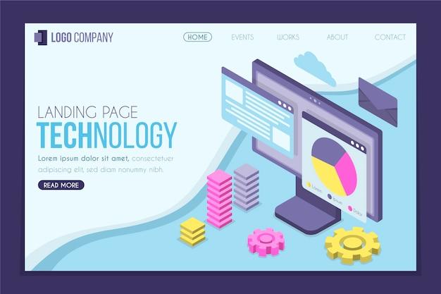 Целевая страница изометрической технологии