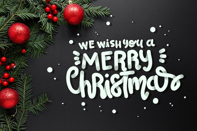 Счастливого рождества надписи на новогодней фотографии