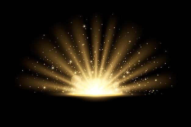 Светящийся эффект восхода солнца