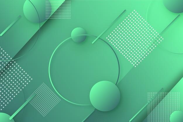 Абстрактный зеленый геометрический фон