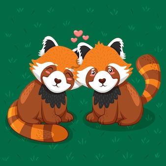 素敵なバレンタインデーの動物のカップル