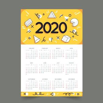 Красочная графика календарь концепции