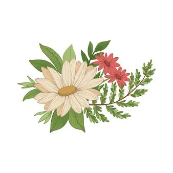 Милый винтажный цветочный букет