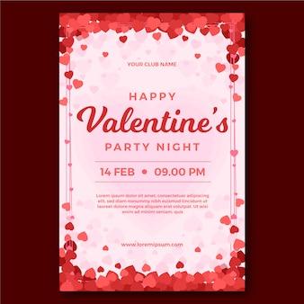 Плоский дизайн валентина плакат плакат