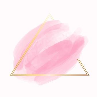 Золотая простая рамка с акварельной окраской