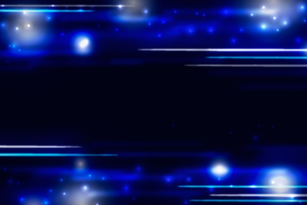 コピースペースを持つ最小粒子青い背景