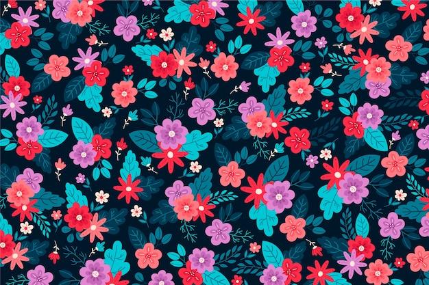 頭が変な花の背景の美しいアレンジメント