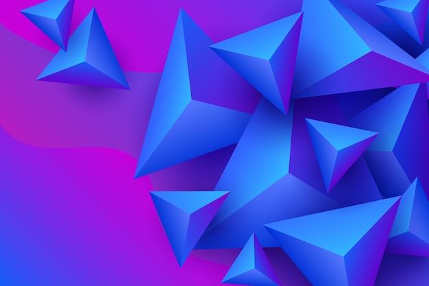 鮮やかな色の三角形の背景