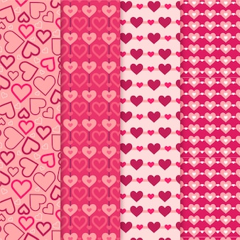 フラットバレンタインデーパターンパック