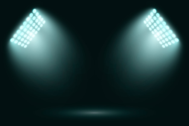 Яркие реалистичные огни стадиона