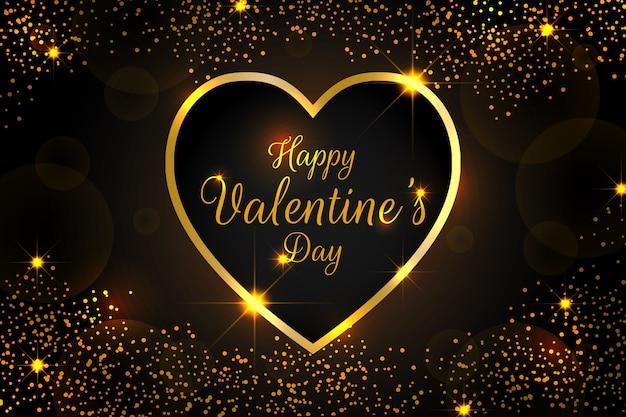 光沢のある要素を持つエレガントなバレンタインデーの背景