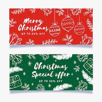 Ручной обращается рождественские продажи баннеров