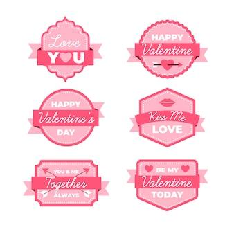 フラットバレンタインバッジコレクション