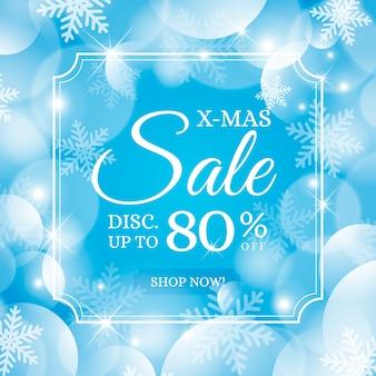Размытые рождественские специальные продажи