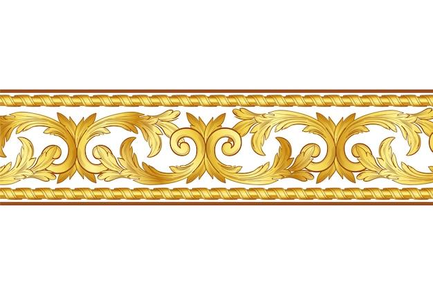 黄金の装飾的なボーダースタイル