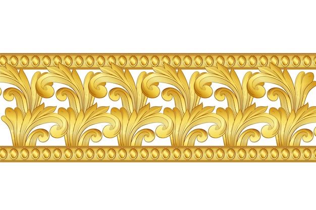 Концепция золотой орнамент границы